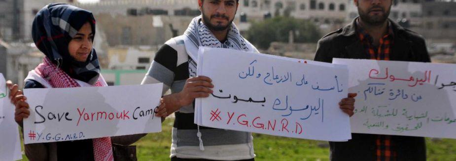 Gazze'de İnsan Zinciri...