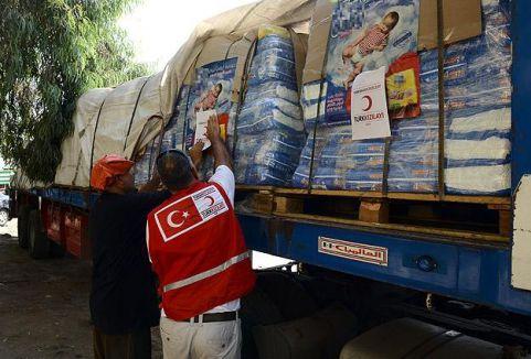 Gazze'ye 20 ton ilaç yardımı yapıldı