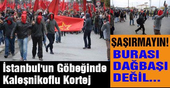 Gedik'in Cenazesinde Kaleşnikoflu Korteş....