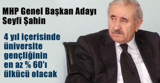 Genel Başkan Adayı Şahin: Öcalan'ı Asacağız