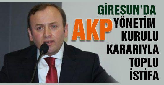 Giresun AKP Teşkilatında Toplu İstifa!