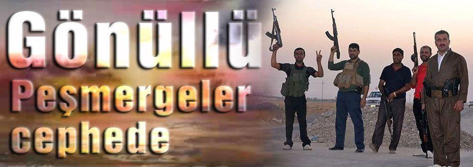 Gönüllü Peşmergeler vuruşmaya hazır