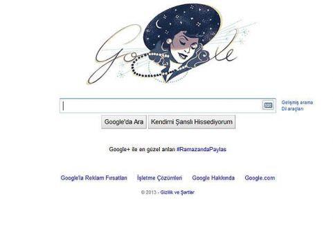 Google'dan Safiye Ayla için doodle...