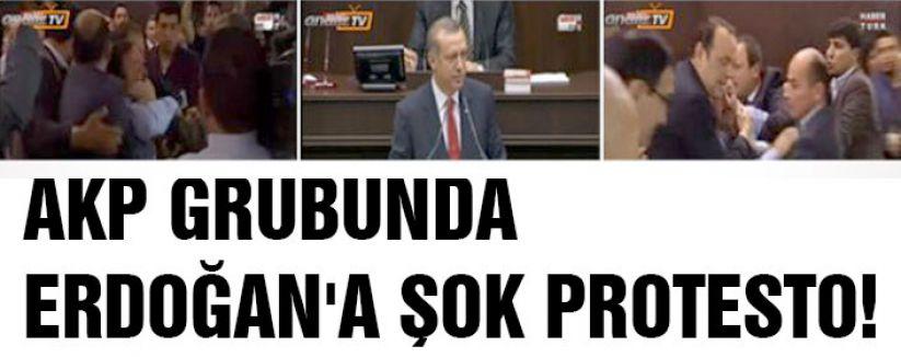 Grup konuşmasında Erdoğan protesto edildi
