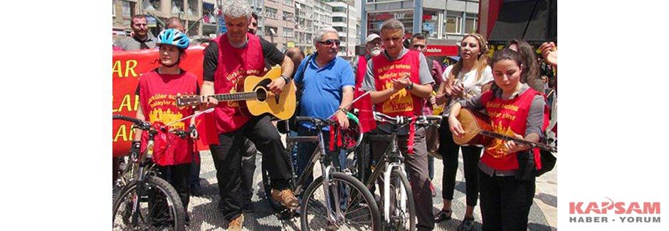 Grup Yorum'dan bisikletli protesto