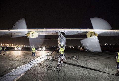 Güneş enerjisiyle çalışan uçak üretildi...
