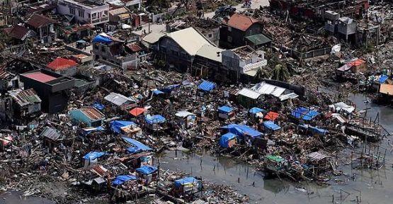 Haiyan tayfununda ölü sayısı bin 833'e yükseldi...