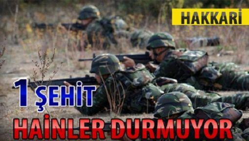 Hakkari'de Çatışma: 1 Asker Şehit 5 Yaralı