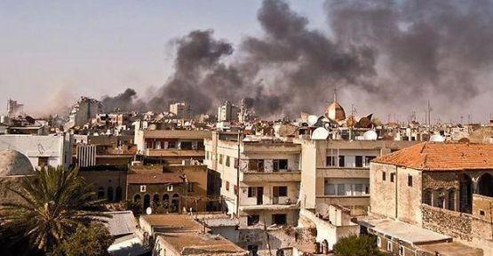 Halep'e varil bombası atıldı
