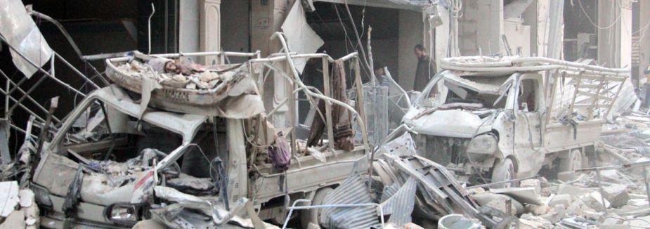 Halep'te bombaları 37 can aldı