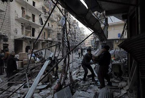 Halep'te hava saldırısı