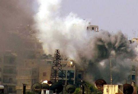 Halep'te vakum bombalı saldırı...