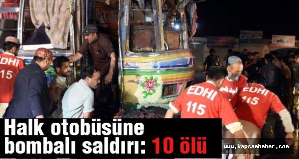 Halk otobüsüne bombalı saldırı: 10 ölü
