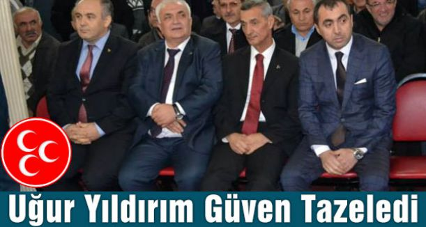 Havza'da MHP İlçe Başkanı Uğur Yıldırım Güven Tazeledi