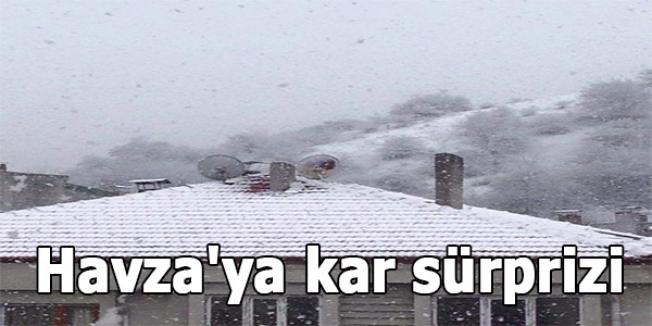 Havza'ya kar sürprizi