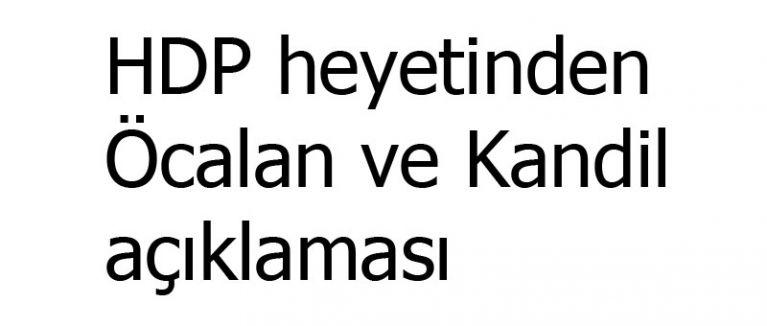 HDP heyetinden Öcalan ve Kandil açıklaması