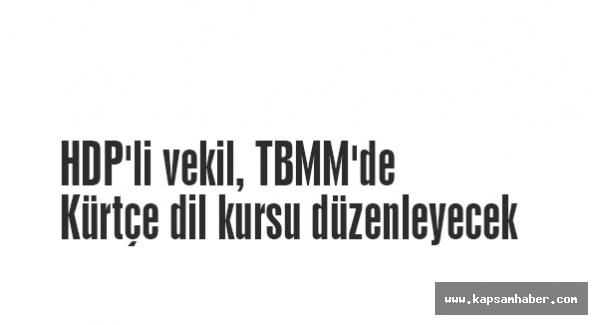 HDP'li vekil, TBMM'de Kürtçe dil kursu düzenleyecek
