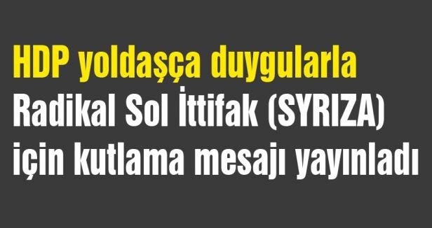 HDP 'liler, SYRIZA'yı kutladı