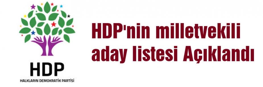 HDP Milletvekili Adaylarını Açıkladı