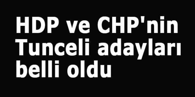 HDP ve CHP'nin Tunceli adayları belli oldu