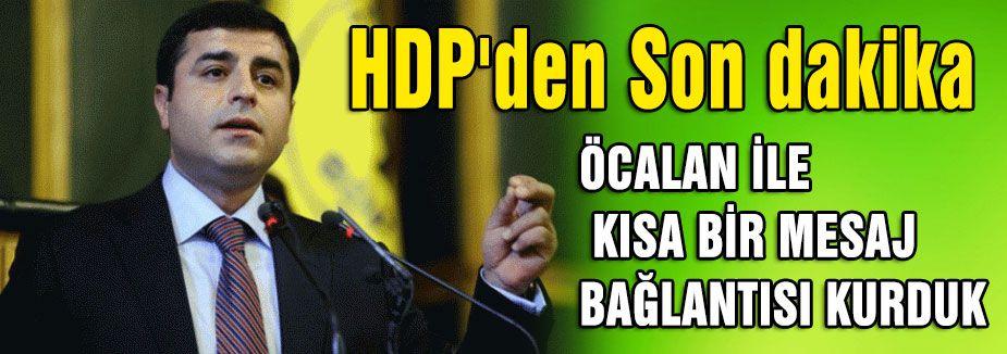 HDP'den Son dakika açıklaması..