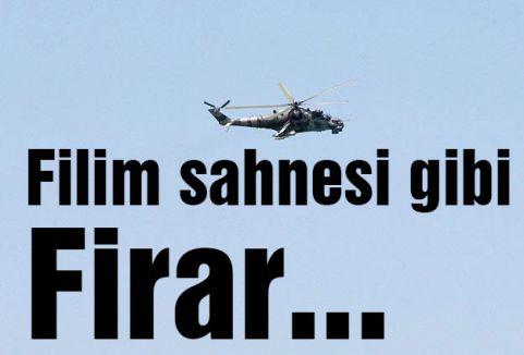 Helikopterle firar ettiler...