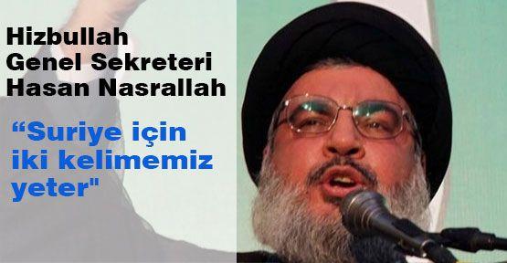 Hizbullah'tan Suriye'ye Tehdit