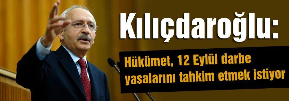 Hükümet; 12 Eylül darbe yasalarını tahkim etmek istiyor