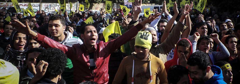 ihvan terör örgütü kararına cuma protestosu