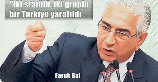 İki Gruplu Bir Türkiye Yaratıldı