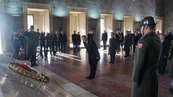 İlham Aliyev, Anıtkabir'i ziyaret etti