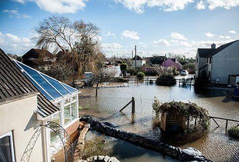 İngiltere'de sel felaketi...