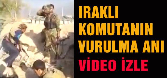 Iraklı komutanın adım adım vurulma anı..