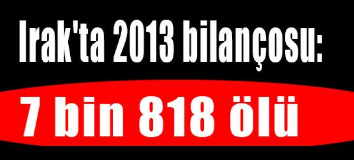 Irak'ta 2013 bilançosu