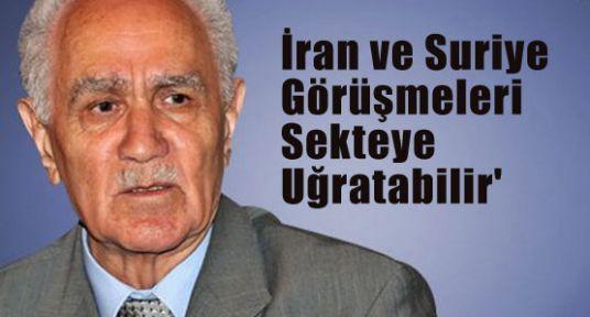 'İran ve Suriye Görüşmeleri Sekteye Uğratabilir'