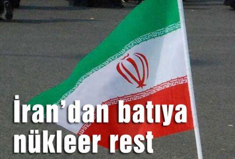 İran'dan batıya nükleer rest