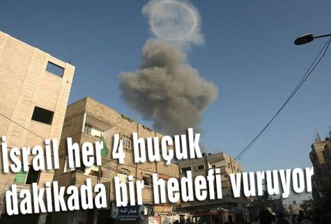 İsrail her 4 buçuk dakikada bir vuruyor