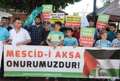 İsrail'in saldırıları protesto edildi