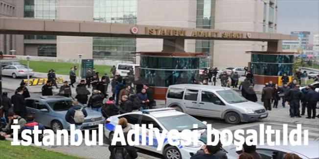 İstanbul Adliyesi boşaltıldı