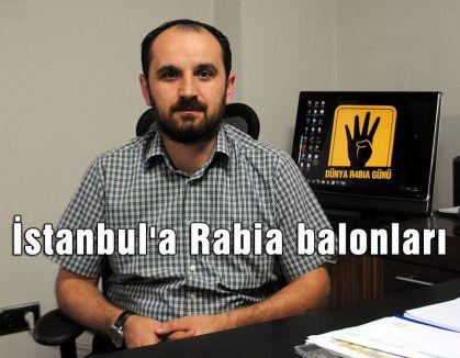 İstanbul'a Rabia balonları