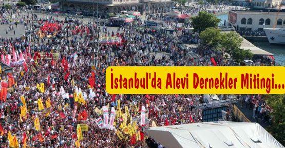 İstanbul'da Alevi Dernekler Mitingi...