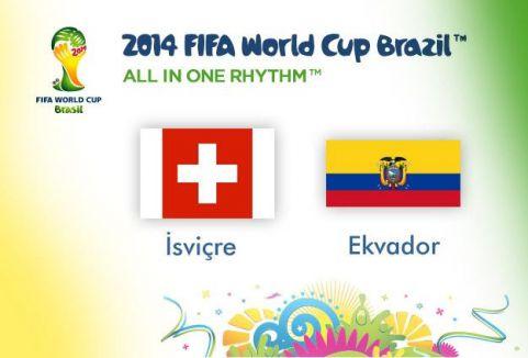 İsviçre Ekvador'u 2-1 yendi