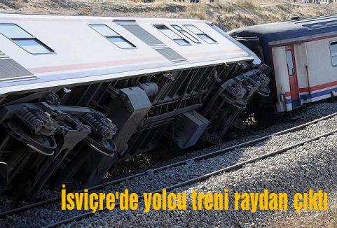 İsviçre'de yolcu treni raydan çıktı