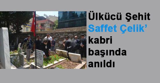 İzmir Ülkü Ocakları  Ülkücü Şehit Saffet Çelik'i Andı