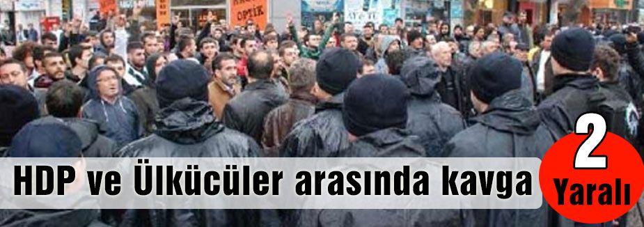 İzmir'de HDP ve Ülkücüler arasında kavga