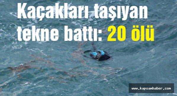 Kaçakları taşıyan tekne battı çok sayıda ölü var