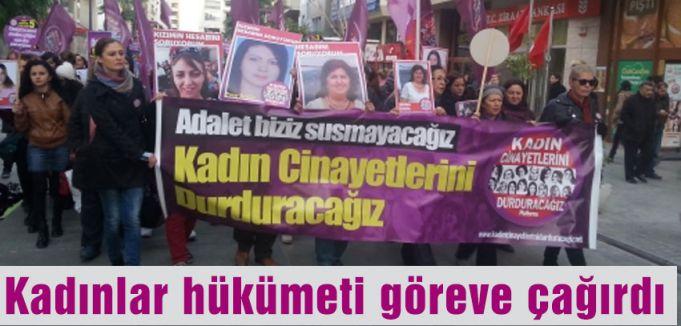 Kadınlar hükümeti göreve çağırdı
