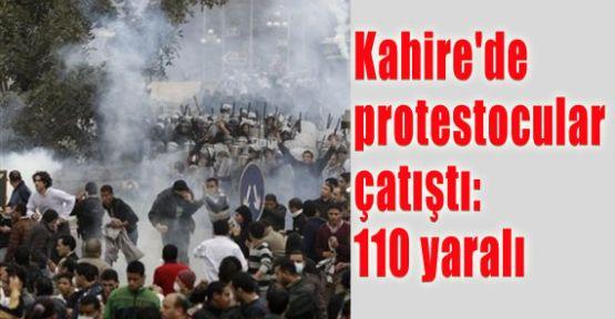 Kahire'de protestocular çatıştı: 110 yaralı