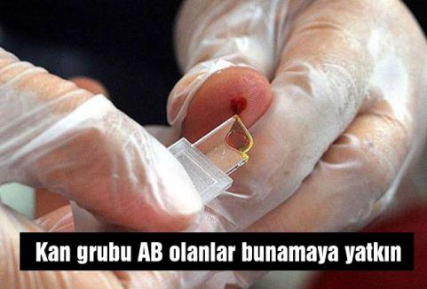 Kan grubu AB olanlar bunamaya yatkın