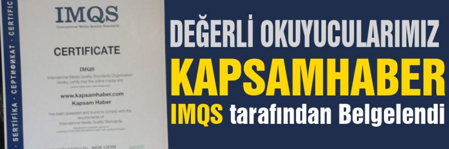 Kapsamhaber,IMQS tarafından Belgelendi